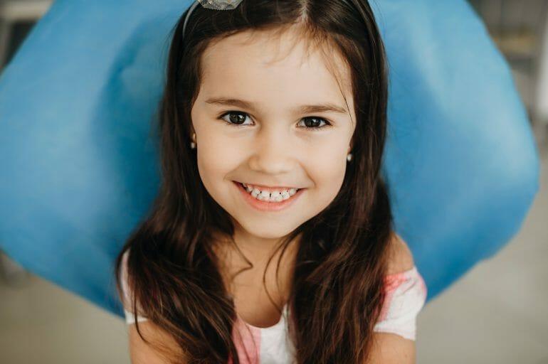 Portrait,Of,A,Lovely,Little,Girl,Sitting,In,A,Pediatric